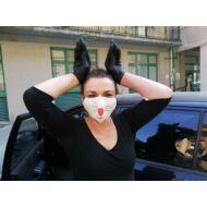 Nyuszis textil mosható szájmaszk - 3 rétegű
