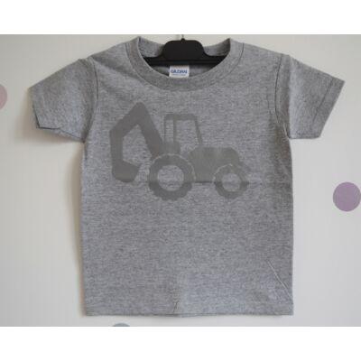 Kis Felfedezők nyomában - fényvisszaverős munkagépes póló - Markolós