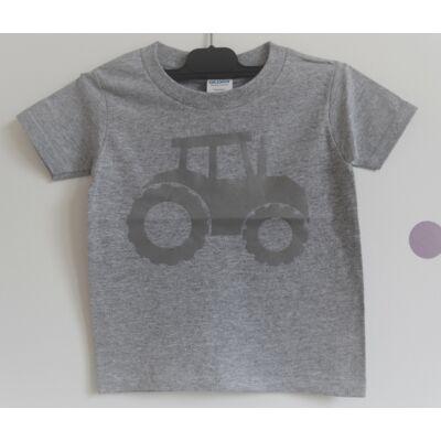 Kis Felfedezők nyomában - fényvisszaverős munkagépes póló - Traktoros