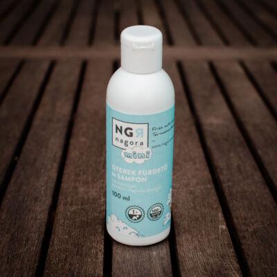 Nagora Gyerek fürdető és sampon mandulaolajjal, mandarin-magnólia illóolajjal 200 ml