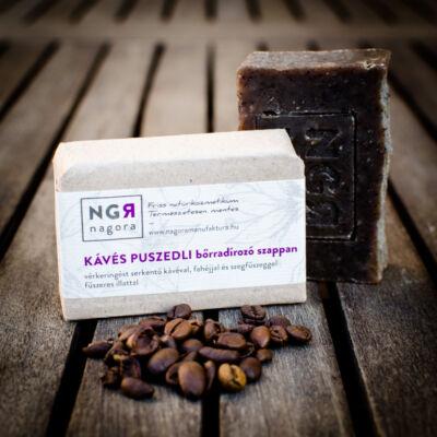 Nagora Kávés puszedli bőrradírozó szappan 90 g