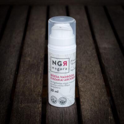 Nagora Rózsa-vadrózsa éjszakai arckrém száraz bőrre 30+ 30 ml