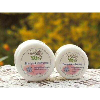 VeraNatura Borágó és szilvamag bőrtápláló arckrém 30 ml